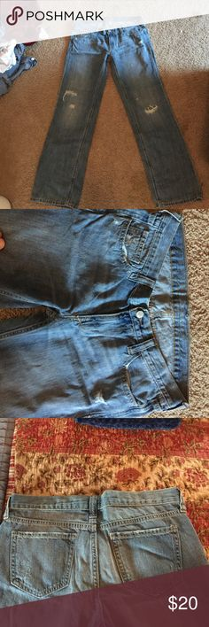 Blue jeans Distressed blue jeans. Old Navy Brand. Straight leg. Old Navy Pants Straight Leg