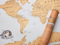 Lahjoja miehelle - Scratch Map Original, Maailma sinun mukaasi!