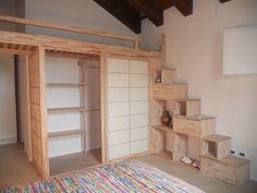 Camerette Con Soppalco E Cabina Armadio.16 Fantastiche Immagini Su Camere Soppalco Bunk Beds Bedroom