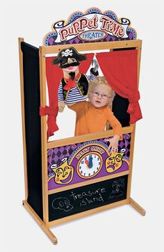 This is an amazing puppet theatre for kids and it's a great price! Perfect holiday gift!