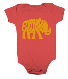 Brooklyn Animal Shortsleeve Onesie Bodysuit - Brooklyn Elephant