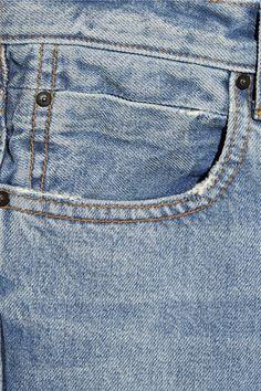 Light-blue denim Button and concealed zip fastening at front 100% cotton; pocket lining: 65% cotton, 35% polyester Machine wash or dry clean Designer wash: Light Indigo Aged