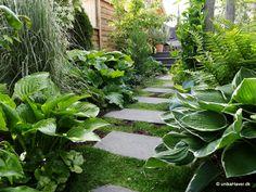 Haveplaner og haveideer i galleri. Havearkitekter viser havedesign.