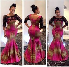 The Zuriel African print dress with guipure lace sleeves, theafricanshop, african clothing, african maxi dress, african mermaid gown African Dresses For Women, African Print Dresses, African Attire, African Wear, African Fashion Dresses, African Women, African Prints, Ghanaian Fashion, Nigerian Fashion