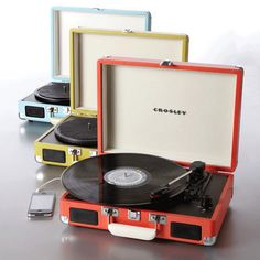 Crosley® 'Cruiser' Portable Turntable - Also plays from etc Modern Record Player, Record Players, Usb Turntable, Canada Shopping, Brownie Points, Multipurpose Room, Cool Backpacks, Camera Accessories, Online Furniture