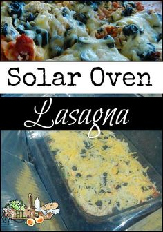 Solar Oven Slow Cooker Lasagna - Use your favorite recipe and save some money by baking lasagna in the solar oven - Homestead Lady Oven Cooking, Cooking Tips, Cooking Recipes, Oven Recipes, Lunch Recipes, Breakfast Recipes, Dinner Recipes, Baked Lasagna, Solar Cooker