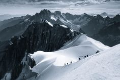 Breathtaking Photographs of the Alps Make the Humans Climbing Them Look Like Ants