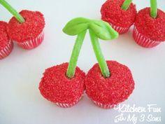 Double Cherry Cupcakes
