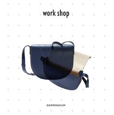 ALESYA ORLÓVA / GEO Saddle Bag blue / QOMPENDIUM WORK SHOP / minimal, accessory, handbag, simplicity