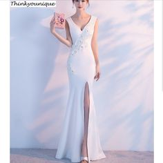 Wine red Customized V neck  Party Gown Formal Long Evening dresses vestido de festa longo robe de soiree vestidos de novia H1619