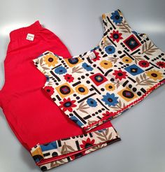 DEADSTOCK Two Piece Girl's Pedal Pusher by rememberwhenemporium, SOLD