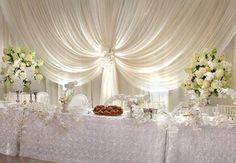 Wedding Head Table - draping