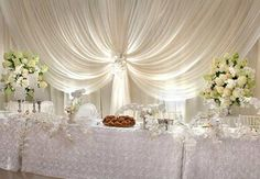 Wedding Head Table - draping