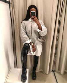Casual Fall Outfits, Winter Fashion Outfits, Fall Winter Outfits, Chic Outfits, Mode Chic, Mode Style, Black Women Fashion, Womens Fashion, Outfit Invierno