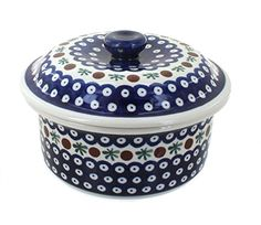Polish Pottery Nature Round Baker with Lid ** Read more reviews of the product by visiting the link on the image.