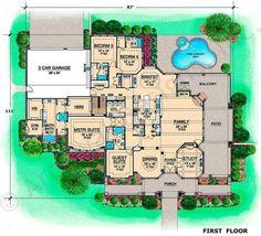 Killian Hill House Plan - House Plan - Daylight Basement - First Floor Plan