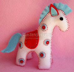 Cute little felt horse