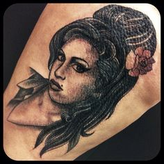 Amy Winehouse. #portrait #amywinehouse #traditional #singer #rip #tattoo #cat