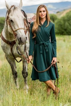 Emerald Green Margot Dress from the Timbers and Twine Collection by Shabby Apple
