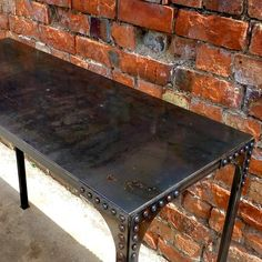 Industrial Vintage Workbench Console / Hallway Table Pedlars