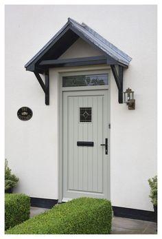 Home Renovation Front Door Timber front door York, North Yorkshire Front Door Canopy, Porch Canopy, Front Door Porch, Front Door Entrance, House Entrance, Front Porches, Porch Entrance Ideas, Door Canopy Plans, Country Front Door