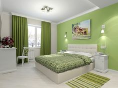 Many people do not realize that the color determines the general atmosphere in the room and that is why positive colors for bedrooms are of such a great importance. Ceiling Design Living Room, Bedroom False Ceiling Design, Bedroom Wall Designs, Room Design Bedroom, Bedroom Wall Colors, Bedroom Furniture Design, Home Room Design, Indian Bedroom Decor, Green Bedroom Decor