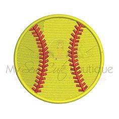 Softball Embroidery Design  1x1 2x2 3x3 4x4 by mysewcuteboutique