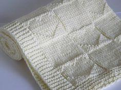Ravelry: Vanilla Blossom pattern by Deniza Bakalova Cotton Baby Blankets, Knitted Baby Blankets, Crochet Cushions, Knit Crochet, Knitting Yarn, Baby Knitting, Baby Patterns, Knitting Patterns, Baby Dedication