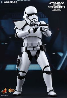 Star Wars: First Order Stormtrooper Squad Leader | Deluxe-Figur (voll beweglich) | Hot Toys | https://spaceart.de/produkte/sw096.php
