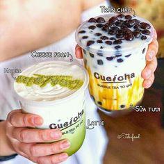 ✔LẤY = FOLLOW ME✔ Bubble Tea Menu, Bubble Tea Shop, Pearl Tea, Matcha Drink, Dessert Packaging, Cafe Food, Milk Tea, Menu Design, Tea Recipes