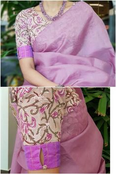 Summer 2019 ready to wear blouses featuring interesting ethnic prints. To buy visit sareeenvy. Kurta Designs, Cotton Saree Blouse Designs, Simple Blouse Designs, Stylish Blouse Design, Latest Blouse Designs, Kalamkari Blouse Designs, Saree Blouse Patterns, Sari Design, Designer Kurtis