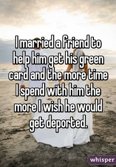 Whisper App.  Confessions About Green Card Marriages That Will Break Your Heart