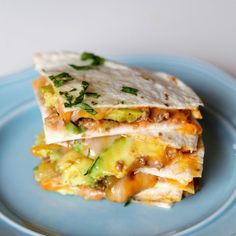 Cheesy Beef Quesadillas with Avocado - Elevate Your Ground Beef!