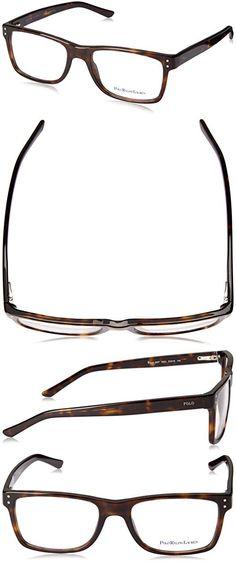 b274274d6ceb Polo PH 2057 Eyeglasses Styles Havana Frame w/Non-Rx 55 mm Diameter Lenses