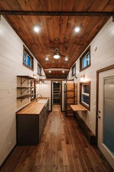 Pine T&G Ceiling - Noah by Wind River Tiny Homes