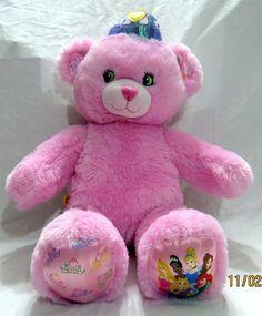 930b9ee7fa7 Build A Bear Disney Princess Teddy Pink Plush Soft Stuffed Animal Crown 16