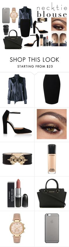 """Business Mogul"" by enu-india on Polyvore featuring Yves Saint Laurent, Jacques Vert, Gianvito Rossi, Balmain, MAC Cosmetics, MICHAEL Michael Kors, Michael Kors, Native Union and Homage"