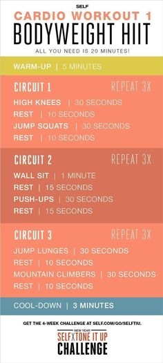 Bodyweight HIIT Cardio Workout - Self x Tone It Up Challenge