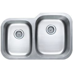 Buy the PROFLO Stainless Steel Direct. Shop for the PROFLO Stainless Steel Undermount Double Basin Stainless Steel Kitchen Sink with Sound Absorption Technology and save. Stainless Kitchen, Stainless Steel Sinks, Granite Fabricators, Solid Surface Countertops, Marble Countertops, Double Bowl Kitchen Sink, Kitchen Sinks, Flooring Companies, Undermount Sink