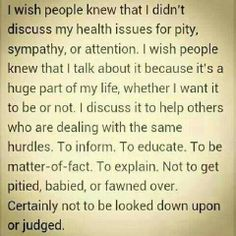 Amen...i wish people would realize the reality and truths about things. epileptics aren't like other people.