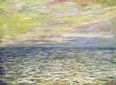 W 771 - Claude Monet: Coucher de soleil à Pourville, pleine mer (1882)   by petrus.agricola