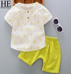 Casual Children Clothing Boys T-shirt Shorts  Sets Baby Boy Clothing Sets, Newborn Boy Clothes, Kids Clothes Boys, Children Clothing, Infant Clothing, Toddler Outfits, Baby Boy Outfits, Kids Outfits, Casual Summer Outfits