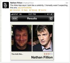 Nathan Fillion - so funny, surprised it didn't say Jason Bateman