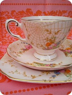 spiderweb teacup