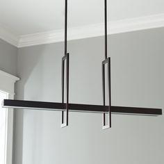 Energy Efficient Modern Balance Beam LED Linear Chandelier bronze