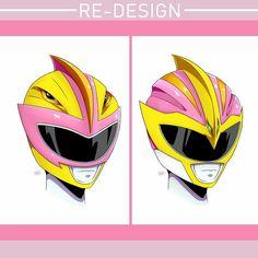 MMPR/Dino Thunder Rose-Yellow Pterodactyl Helmet Variations - Artist: Gasper Flores (Sidenote: 2nd design is better) #∆∆shani