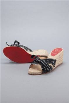 33426a93d58 Rodeo Drive Resale - www.shopRDR.com - 100% Authentic Guaranteed -  Christian Louboutin Tiburon Espadrille Heels (6.5 37)