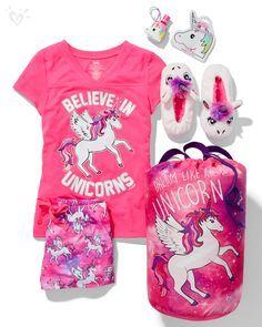 Pijamada de unicornio. Me encanta