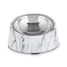 Loving Pets Diamond Plated Dog Bowl With Non-skid Bottom 1-quart Attractive Designs; Glassware