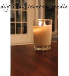 How to make chai scented candles! Love this idea!